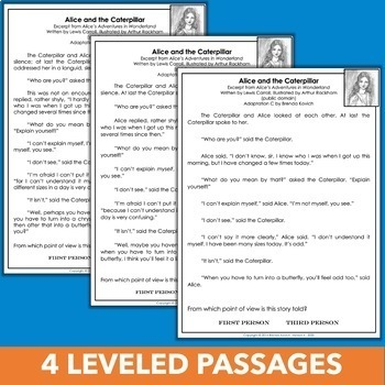Point of View Practice Pack with Differentiated Passages