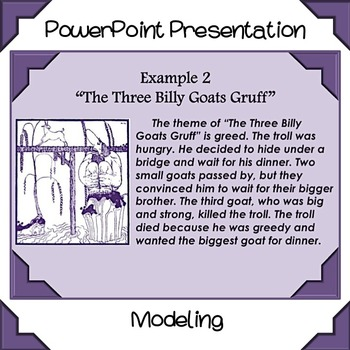 Finding a Theme PowerPoint - Constructing a Response - Three Billy Goats Gruff