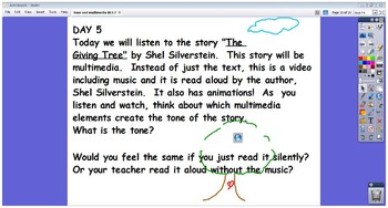 RL5.7 Analyzing Multimedia Common Core and Tone and Mood 5th Grade Flipchart