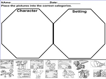 Characters And Setting Worksheet Kindergarten