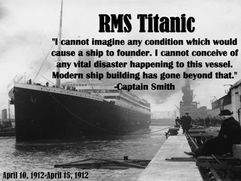 RMS Titanic Introduction PowerPoint Slideshow by Teaching ...