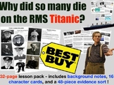 RMS Titianic - Why did so many people die? Card Sort & Deb