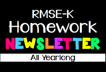 RMSE-K Bilingual Homework Newsletters *ONLY*