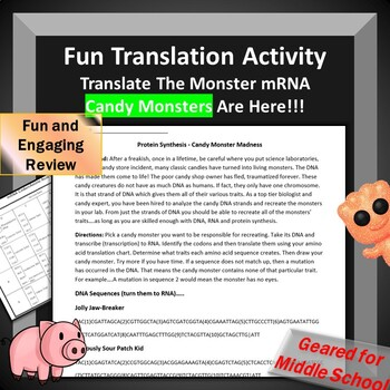 RNA Translation Review Activity Alien Creation