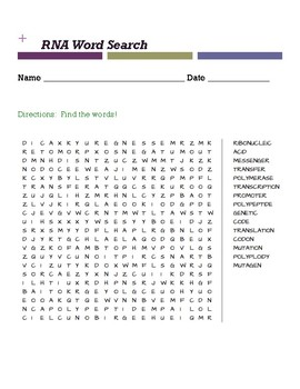 RNA Word Search