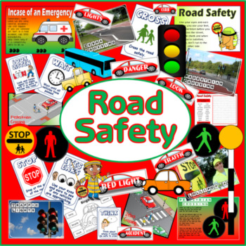 ROAD SAFETY TEACHING RESOURCES ROLE PLAY CHILD MINDER DISPLAY, EYFS, KS 1-2