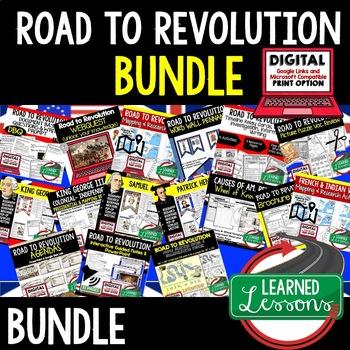 ROAD TO REVOLUTION BUNDLE (AMERICAN HISTORY BUNDLE)