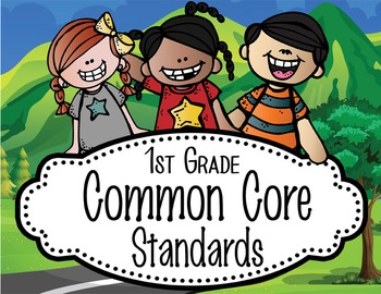 "ROAD TRIP - 1st Grade Common Core Standards ""I CAN"" format / posters"