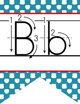 ROAD TRIP - Alphabet  Banner, handwriting, A to Z, ABC print arrow font