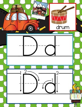 ROAD TRIP - Alphabet Cards, Handwriting, Flash Cards, ABC print with pictures