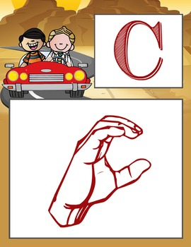 ROAD TRIP - Alphabet Flag Banner, SIGN LANGUAGE