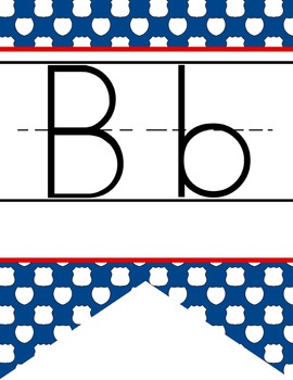 ROAD TRIP - Alphabet Flag Banner, handwriting, A to Z, ABC print font