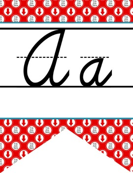 ROAD TRIP - Alphabet Flag Banner, handwriting, A to Z, D'N