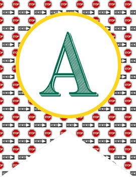 ROAD TRIP - Alphabet Flags, CREATE a BANNER