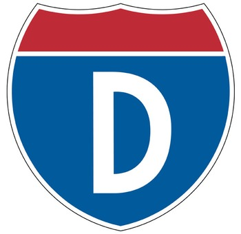 ROAD TRIP - Bulletin Board Letters / interstate design