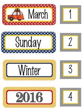 ROAD TRIP - Calendar Set