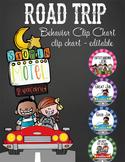 ROAD TRIP - Classroom Decor: Behavior Clip Chart editable MS Word