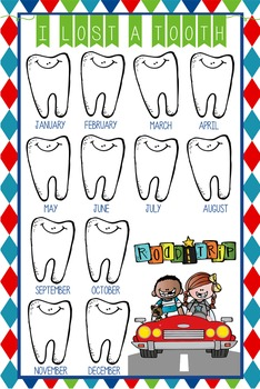 ROAD TRIP - Classroom Decor: I lost a TOOTH - size 24 x 36