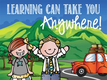 ROAD TRIP - Classroom Decor: MEDIUM POSTER, Learning Can Take You