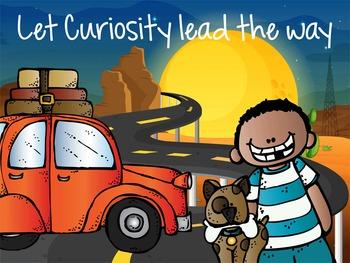 ROAD TRIP - Classroom Decor: MEDIUM POSTER, Let Curiosity Lead the Way
