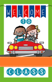 ROAD TRIP - Classroom Decor: WELCOME Banner - Medium, you personalize, Design A