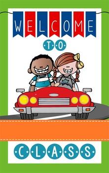 ROAD TRIP - Classroom Decor: WELCOME Banner - Medium, you