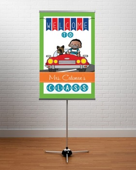 ROAD TRIP - Classroom Decor: WELCOME Banner - Medium, you personalize, Design B