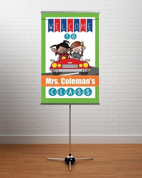 ROAD TRIP - Classroom Decor: WELCOME Banner - Medium, you personalize, Design C