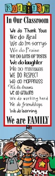 ROAD TRIP - Classroom Decor: X-LARGE BANNER, In Our Classroom We are Family