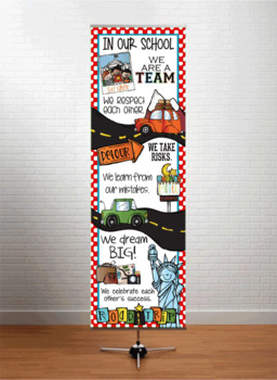 ROAD TRIP - Classroom Decor: X-LARGE BANNER, In Our School