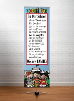 ROAD TRIP - Classroom Decor: X-LARGE BANNER, In Our School ... We are Family