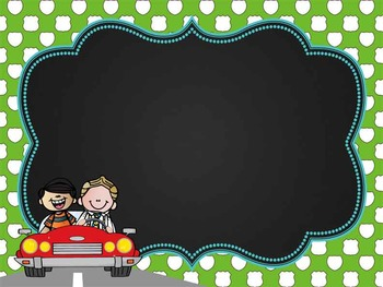ROAD TRIP - Classroom Decor:editable chalkboard  POSTERS / Bistro Chalk Markers
