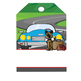 ROAD TRIP - Labels and Luggage Tags, MS PowerPoint, EDITABLE