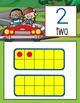 ROAD TRIP - Number Line Banner, 0 to 20, Illustrated, Base Ten Frames