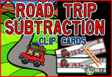 SUBTRACTION CENTER: ROAD TRIP THEME SUBTRACTION CLIP CARDS