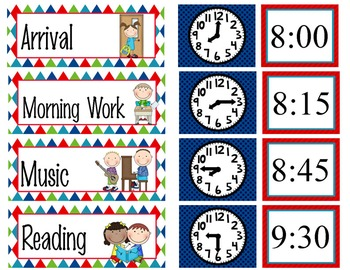 ROAD TRIP - Schedule Cards / editable MS WORD / Illustrated