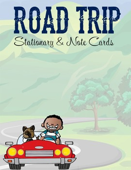 ROAD TRIP - Stationery and Note Cards / MS Word, editable