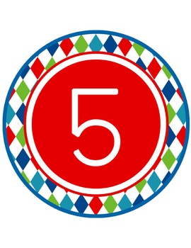 ROAD TRIP - Table Numbers and Circle Decorations