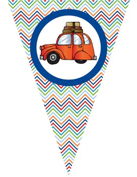 ROAD TRIP theme - Classroom Decor - Triangle Banners, Create A Banner