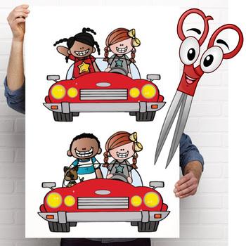 ROAD TRIP theme - CUTOUTS, bulletin board, classroom decor, printable, craft