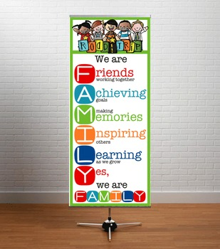 ROAD TRIP theme - Classroom Decor: LARGE BANNER, We Are FAMILY