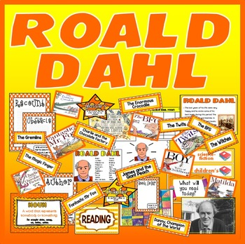 ROALD DAHL AUTHOR RESOURCES LITERACY ENGLISH DISPLAY READING