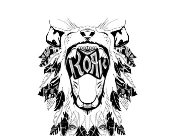 ROAR Colouring in page