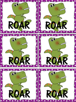 Dolch Word Games Dinosaur Roar