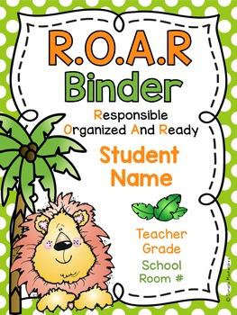 ROAR Jungle Binder Covers **EDITABLE**