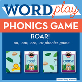 ROAR oa, r- controlled vowel or, oar, ore Phonics Game - Words Their Way Game