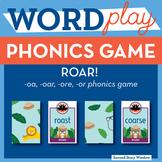 ROAR oa, r- controlled vowel or, oar, ore Phonics Game - W