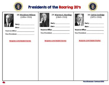 ROARING 20'S: American Presidents