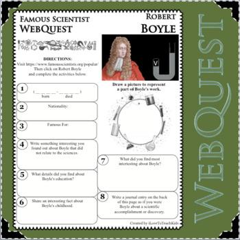 ROBERT BOYLE - WebQuest in Science - Famous Scientist - Differentiated