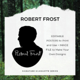 ROBERT FROST Signature Silhouette Posters